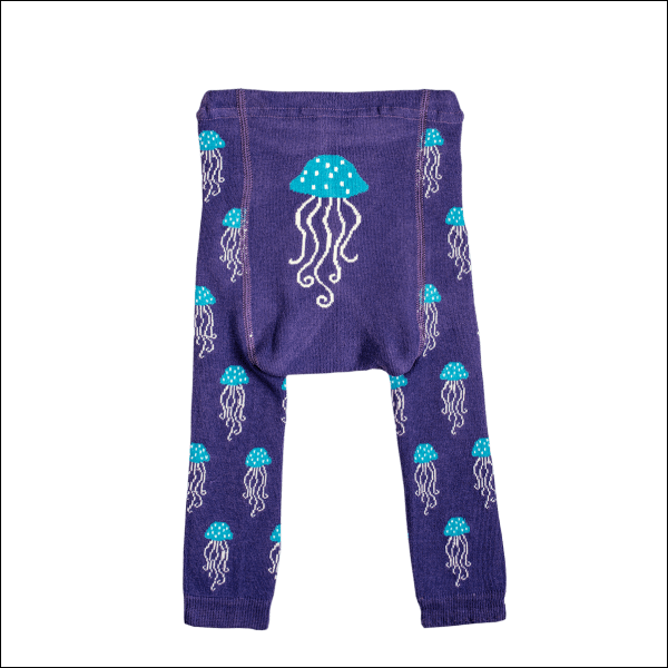 Leggings In Cotone Biologico Foreverisonesecond Meduse - Shop Millemamme