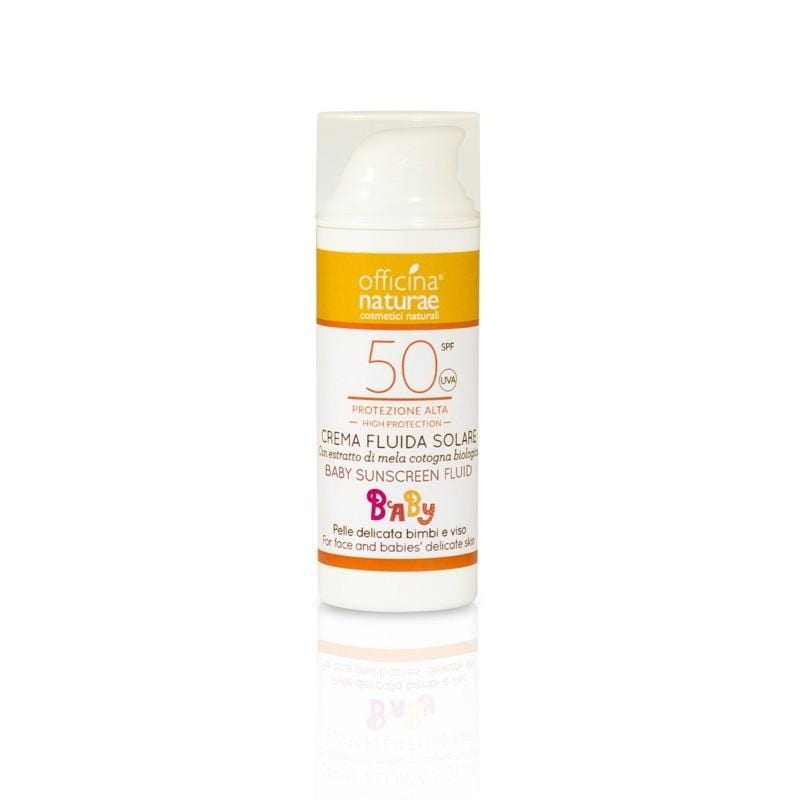 Crema Solare Baby Spf 50 Protezione Alta Airless Officina Naturae - Shop Millemamme