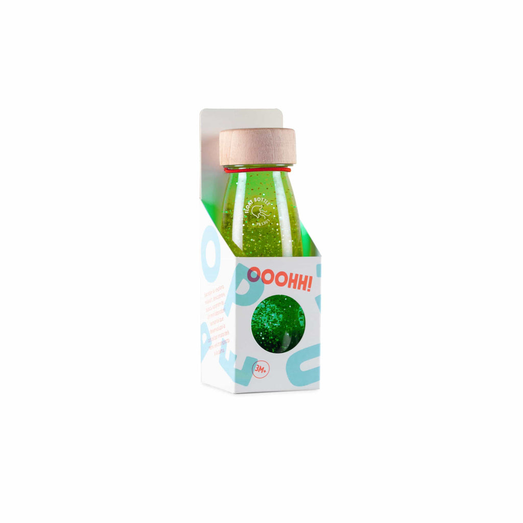 Bottiglia Sensoriale Float Bottle Green Petit Boum