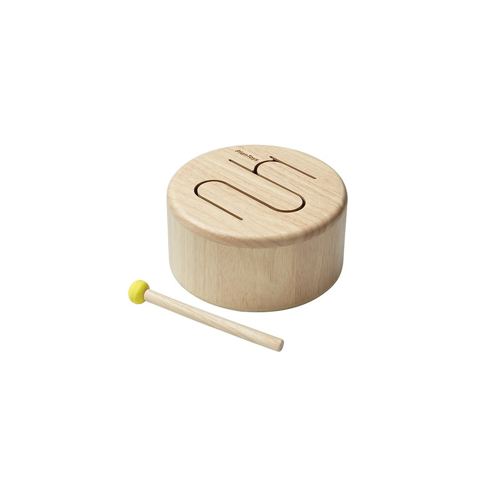 Tamburo solido in legno naturale PlanToys
