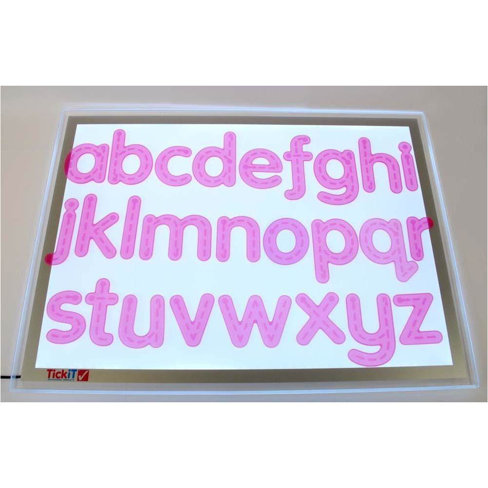 Lettere rosa in silicone Silishapes Tickit