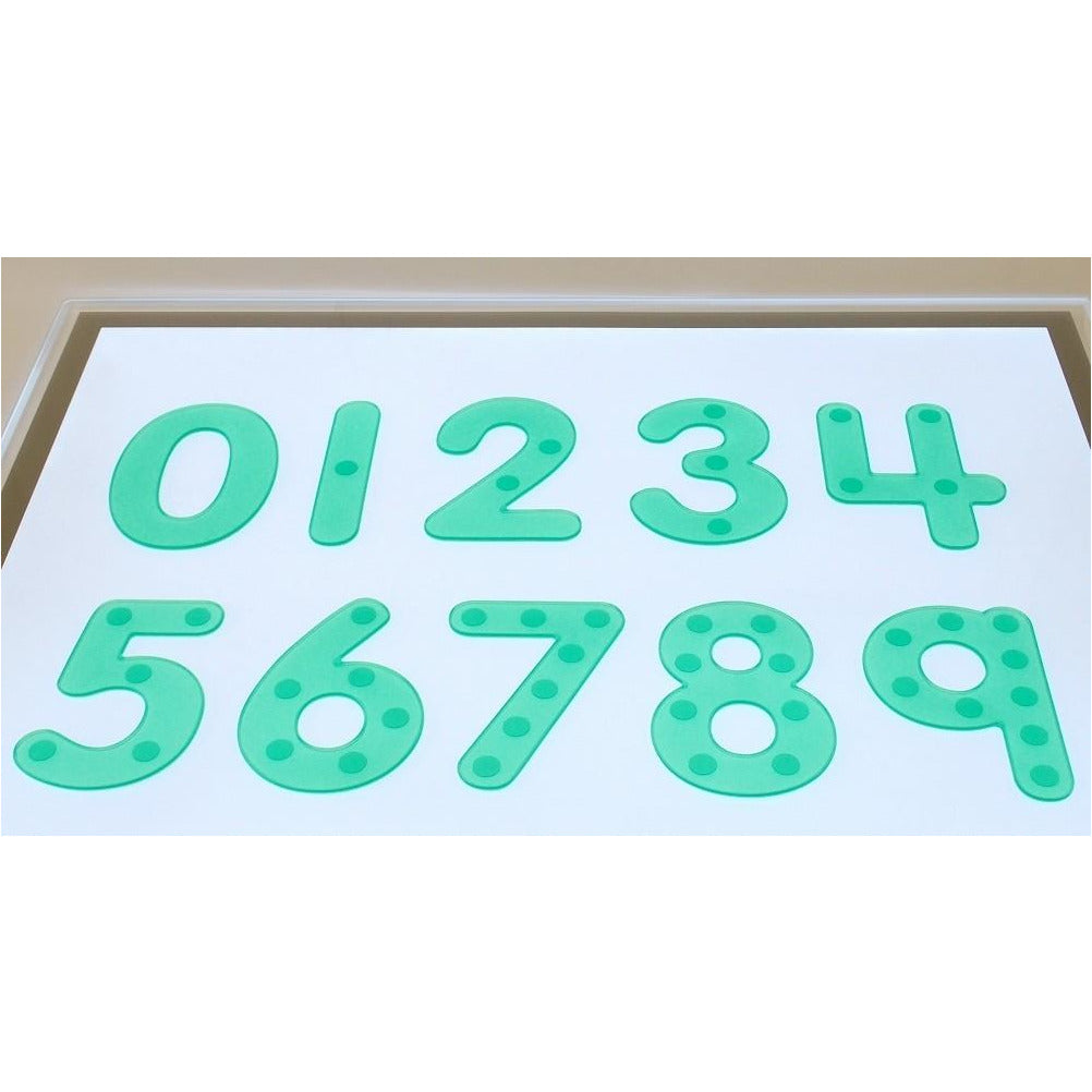 Lettere verdi in silicone Silishapes Tickit