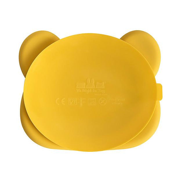 Piatto Multiscomparto con Base Anti-scivolo Orso, Giallo We Might Be Tiny - Shop Millemamme