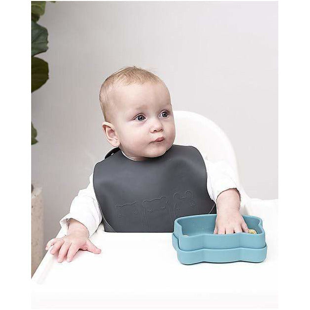 Set di 2 Bavaglini Carta di Zucchero/Carbone in Silicone Catchie Bibs We Might Be Tiny - Shop Millemamme