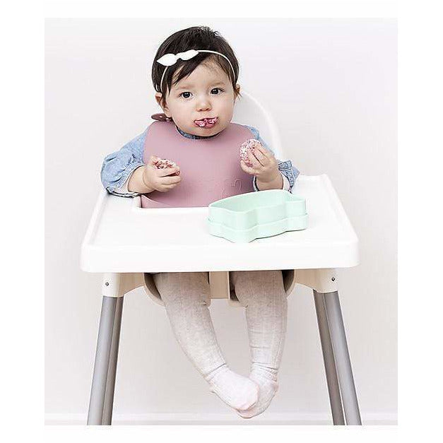 Set di 2 Bavaglini Rosa Chiaro/Rosa Antico in Silicone Catchie Bibs We Might Be Tiny - Shop Millemamme