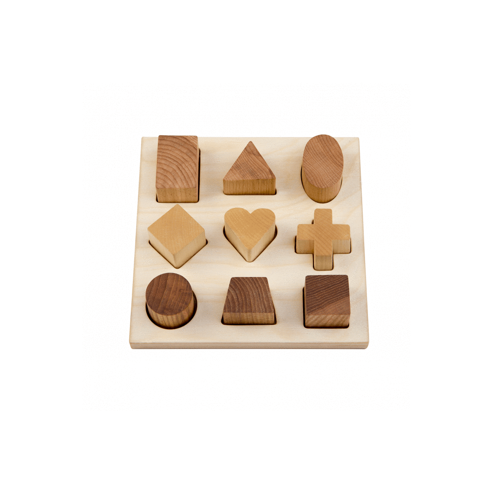 Puzzle Forme in legno al naturale Wooden Story