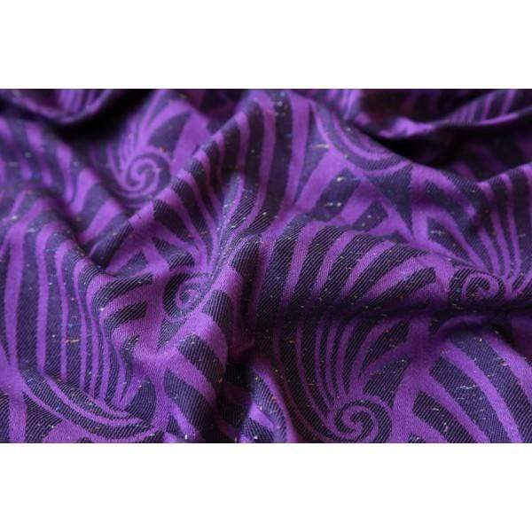 Fascia ad Anelli Yaro Dandy Purple Black Tencel Confetti - Shop Millemamme