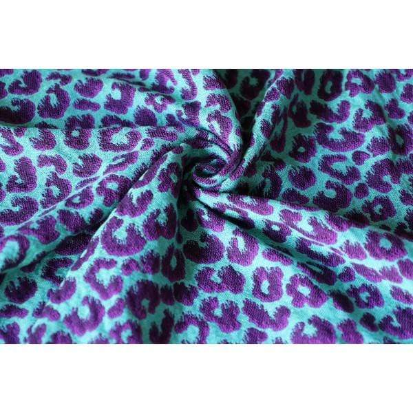 Fascia ad Anelli Yaro Pussycat Ultra Purple Green All Tencel - Shop Millemamme