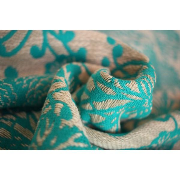 Fascia Rigida Yaro Chrys Puffy Aqua Natural Hemp - Shop Millemamme