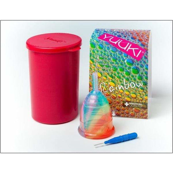 Coppetta Mestruale Yuuki Rainbow Jolly con Infuser - Shop Millemamme