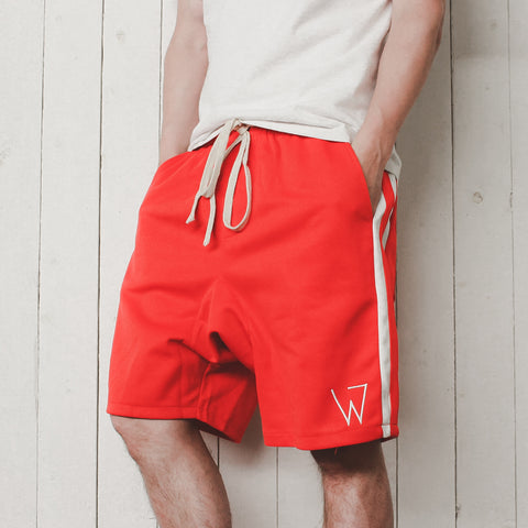 W Shorts, Red