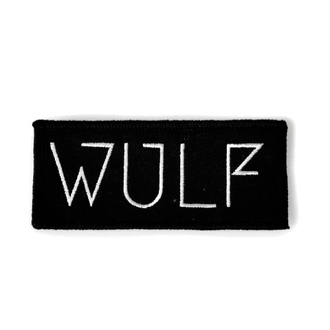 Wulf Text Iron On Hand Patch