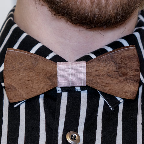 Wooden bow-tie, Gentleman