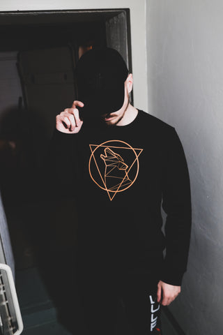 Beast Triangle Sweater, Black