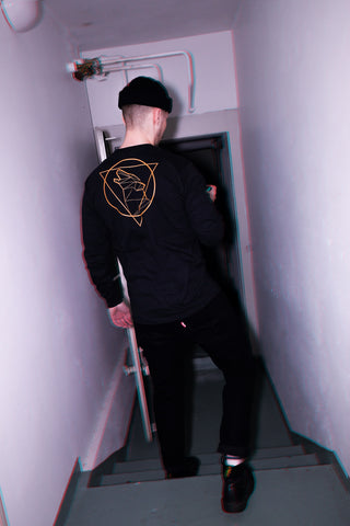 Beast Triangle Double Sided Longsleeve, Black