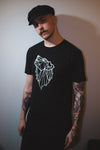 Chilluminati The Howling Tee, Black/Navy