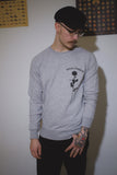 Beast Roses Sweater, Grey