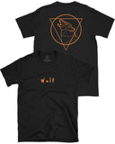 Beast Triangle Double Sided Tee, Black