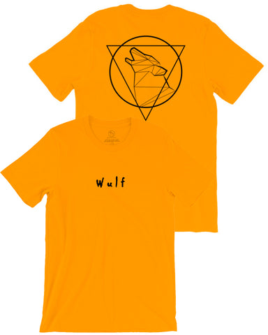 Beast Triangle Double Sided Tee, Gold