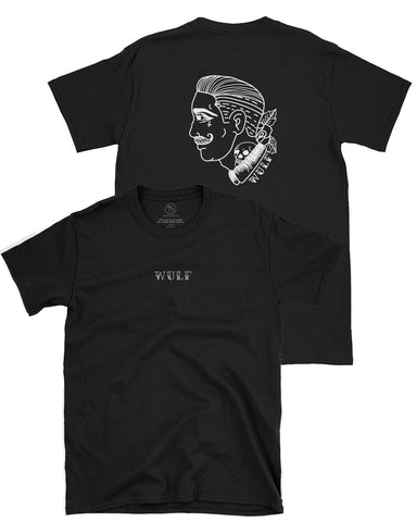 Faceless Double sided Tee, Black