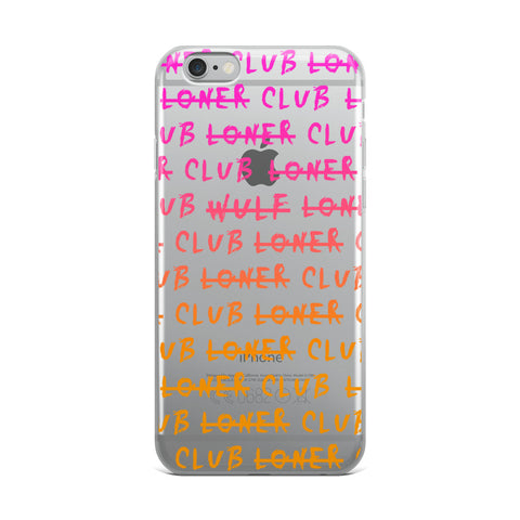 Loner Club Iphone Case, Unicorndust