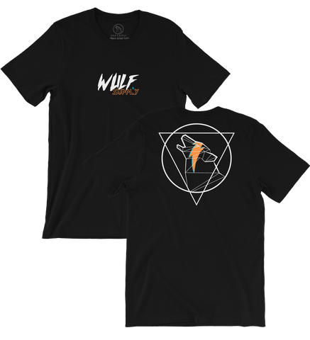 Icon Wulf Doublesided Tee, Black