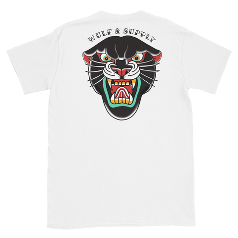 Black Leopard Double Sided Tee, White