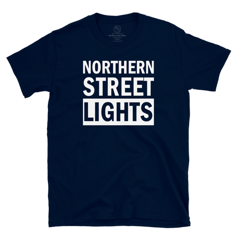 Northern Streelights Statement Tee, Navy