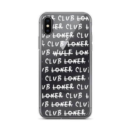 POIKIEN PUHELIN: Loner Club Iphone Case, White