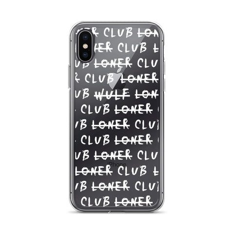Loner Club Iphone Case, White