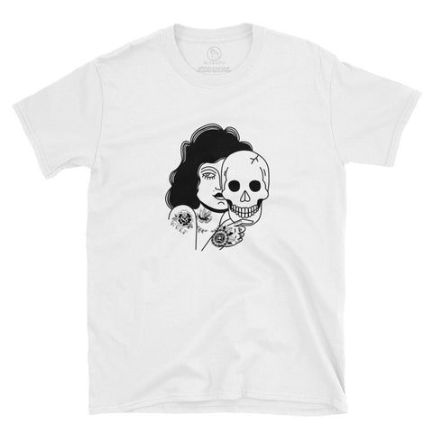 Beast behind the pretty face Tee, White