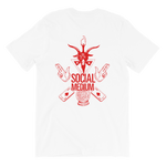 Chilluminati Social Medium Double Sided Tee, Red