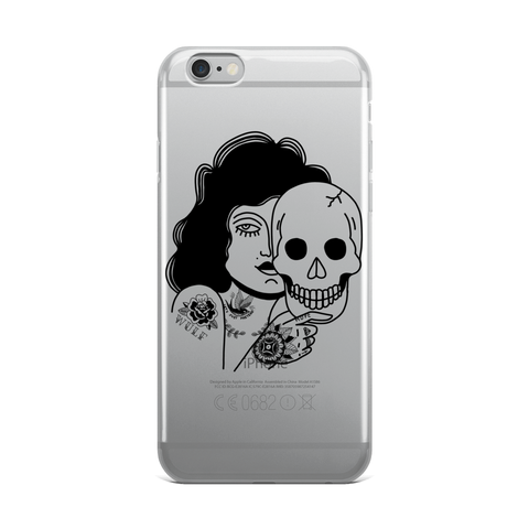 Beast Behind The Pretty Face iPhone Case