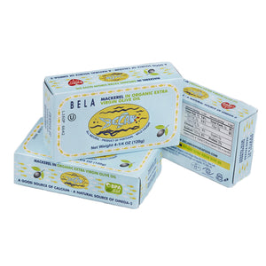 Bela Mackerel in Organic Extra Virgin Olive Oil - 12 Pack - TinCanFish