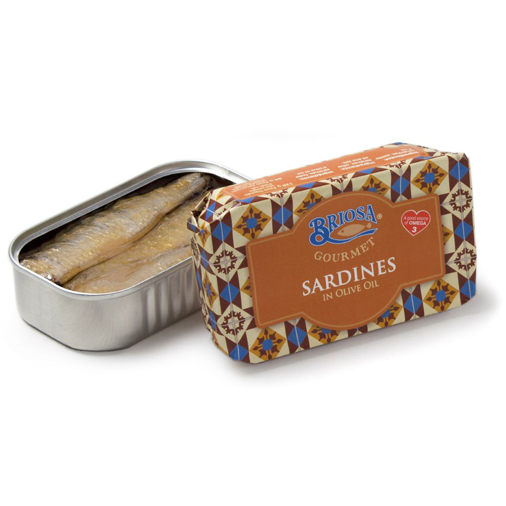 Briosa Gourmet Sardines in Olive Oil - 12 pack - TinCanFish - sustainably sourced - gourmet products - healthy fats & proteins