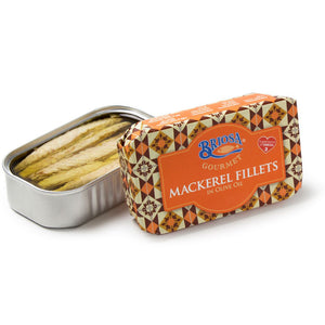 Briosa Gourmet Mackerel Fillets in Olive Oil - 12 Pack - TinCanFish - sustainably sourced - gourmet products - healthy fats & proteins