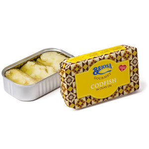 Briosa Gourmet Codfish in Olive Oil - 12 Pack - TinCanFish - sustainably sourced - gourmet products - healthy fats & proteins