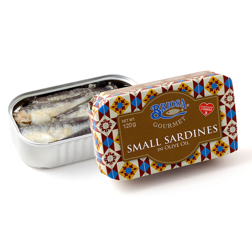 Briosa Gourmet Small Sardines in Olive Oil - 12 pack - TinCanFish