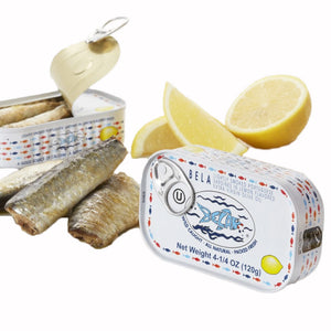 Bela Lightly Smoked Sardines in Organic Extra Virgin Olive Oil - 12 Pack - TinCanFish - sustainably sourced - gourmet products - healthy fats & proteins