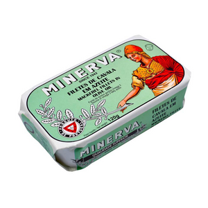 Minerva Mackerel in Olive Oil - TinCanFish - sustainably sourced - gourmet products - healthy fats & proteins