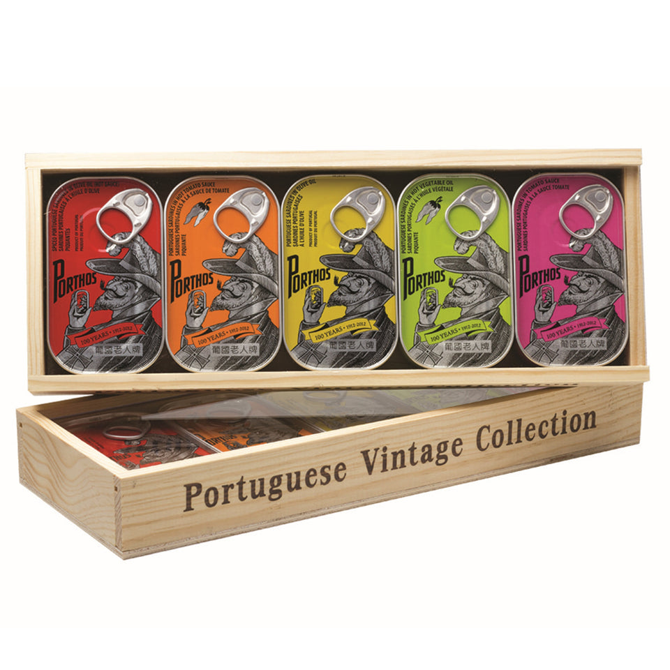 Porthos Portuguese Vintage Collection - TinCanFish - sustainably sourced - gourmet products - healthy fats & proteins