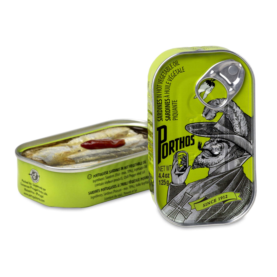 Porthos Sardines - 12 pack - TinCanFish - sustainably sourced - gourmet products - healthy fats & proteins