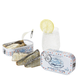 Bela Sardines in Spring Water - 12 Pack - TinCanFish - sustainably sourced - gourmet products - healthy fats & proteins