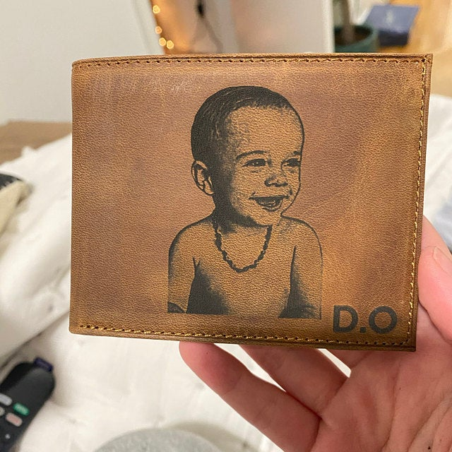 mens custom photo wallet