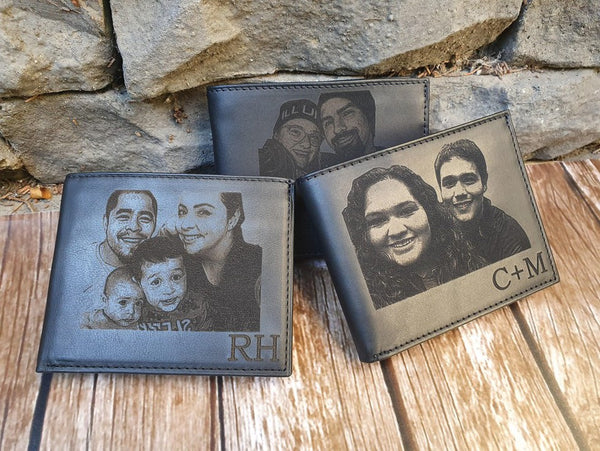 personalized men's photo wallet