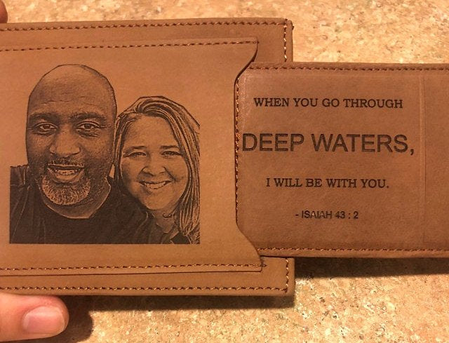 custom men's wallet