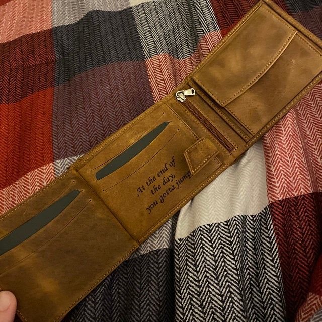 custom mens trifold wallet
