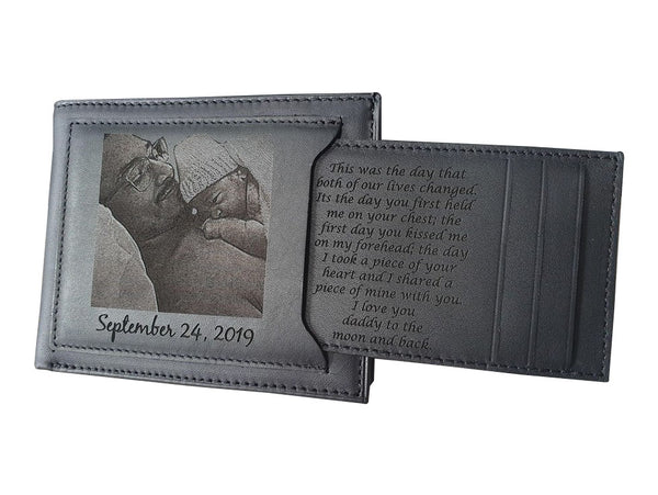 dad and son engraved wallet