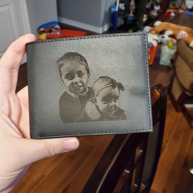 custom mens black wallet