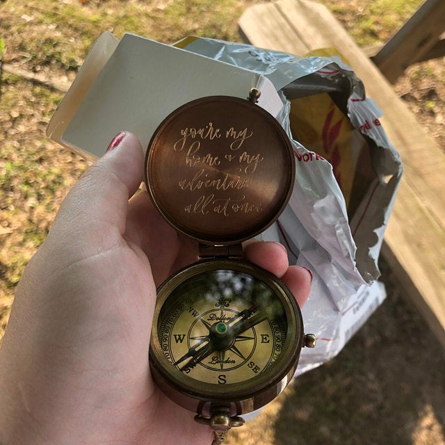 handwriting engraving compass